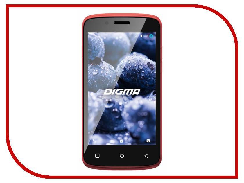 Сотовый телефон Digma VOX A10 3G Red сотовый телефон digma vox s502 3g white