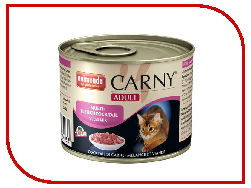 Корм Animonda Carny Adult Коктейль из разных сортов мяса 200g для кошек 83702