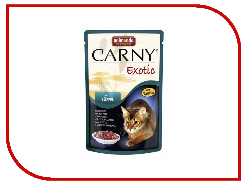 Корм Animonda Carny Exotic Мясо Буйвола 85g для кошек 83365 корм animonda carny exotic мясо буйвола 85g для кошек 83365