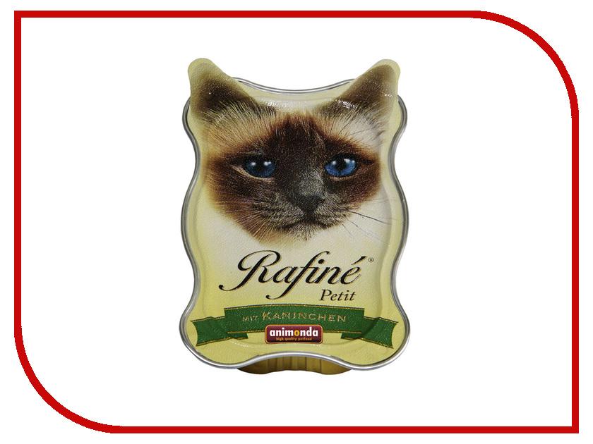 Корм Animonda Rafine Petit Паштет из Кролика 85g для взрослых кошек 83470 корм для кошек animonda rafin petit деликатесная рыба паштет конс 85 г