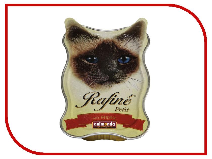 Корм Animonda Rafine Petit Паштет с Сердцем 85g для взрослых кошек 83471 корм для кошек animonda rafin petit деликатесная рыба паштет конс 85 г