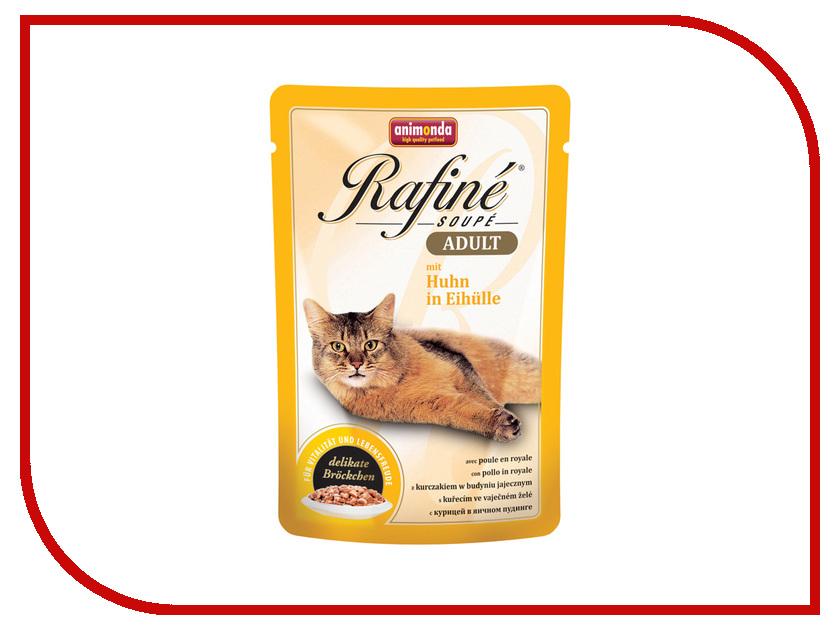Корм Animonda Rafine SoupeE Adult Курица в яичном пудинге для взрослых кошек 100g 83665 пребиотический напиток viyo reinforces cat adult для взрослых кошек 7 х 30 мл