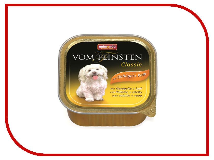 Корм Animonda Vom Feinsten Classic Домашняя Птица/Телятина 150g для собак 82964