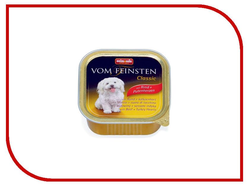 Корм Animonda Vom Feinsten Classic Сердце Индейки/Говядина 150g для собак ламистер 82966
