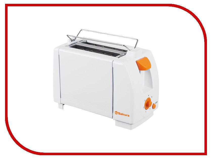 где купить Тостер Sakura SA-7600A White-Orange дешево
