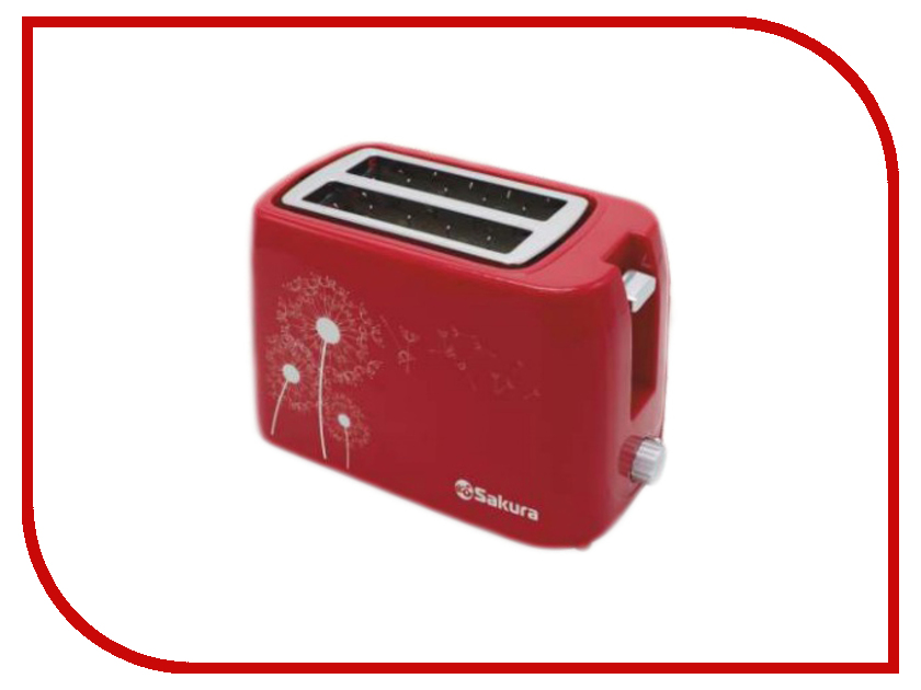 Тостер Sakura SA-7608R Red термопот sakura sa 334rs steel red page 1