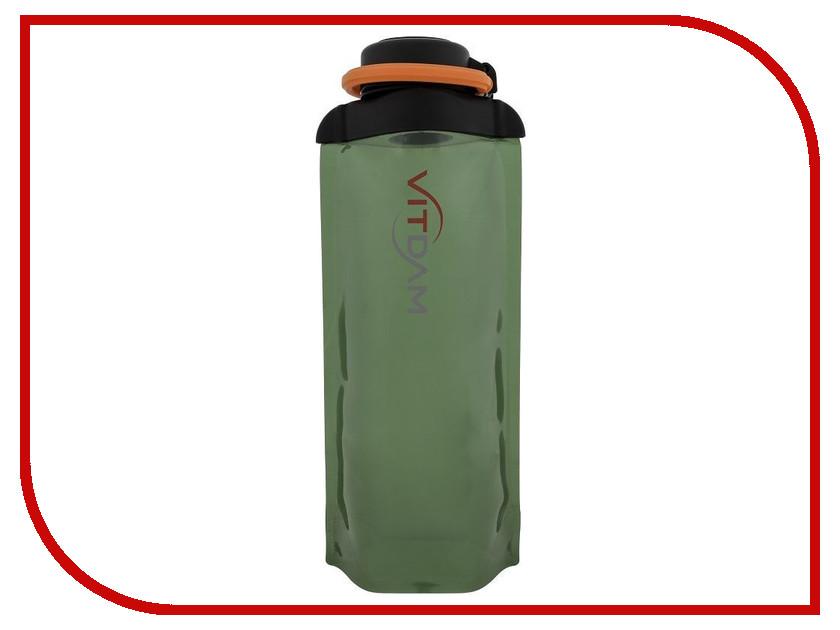 Бутылка VITDAM 700ml Green поильники vitdam складная эко бутылка с карабином 500 мл