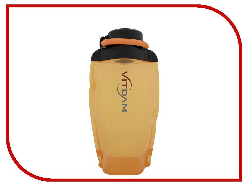 Бутылка VITDAM 500ml Orange поильники vitdam складная эко бутылка с карабином 500 мл