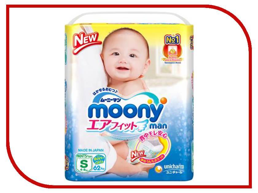 Подгузники Moony S 4-8кг 62шт 4903111-284368 lacywear s 4 tid