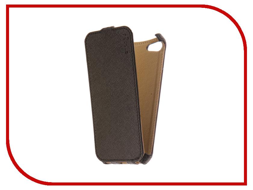 Аксессуар Чехол Snoogy для APPLE iPhone 7 иск. кожа Black SN-iPh-7-BLK-LTH аксессуар чехол st case 4 6 5 иск кожа brown st c –smfl4 6 5 brn lth