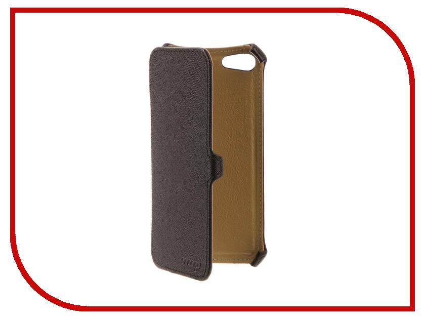 Аксессуар Чехол Snoogy для APPLE iPhone 7 иск. кожа Black SN-iPhb-7-BLK-LTH аксессуар чехол st case 4 6 5 иск кожа brown st c –smfl4 6 5 brn lth