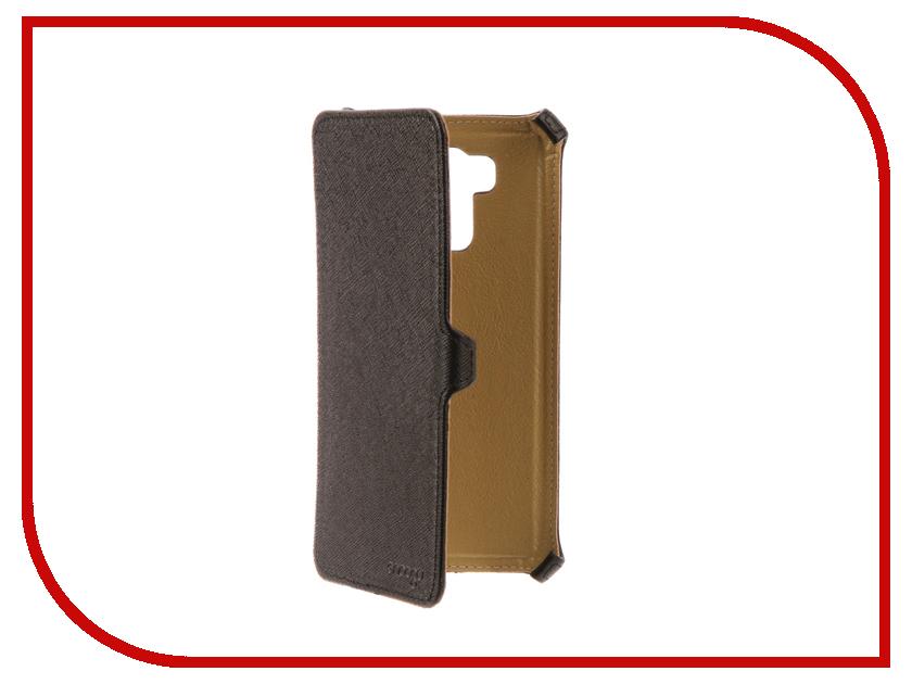 Аксессуар Чехол ASUS ZenFone 3 Max ZC553KL Snoogy иск.кожа Black SN-AsZfb-3max/zc553kl-BLK-LTH