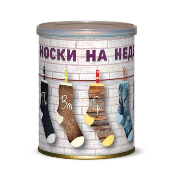 Носки на недельку Canned Socks Black 415287
