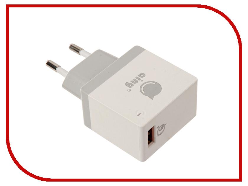 Зарядное устройство Ainy EA-038B Quick Charge 3.0A White зарядное устройство зарядное устройство сетевое qtek s200 htc p3300 ainy 1a