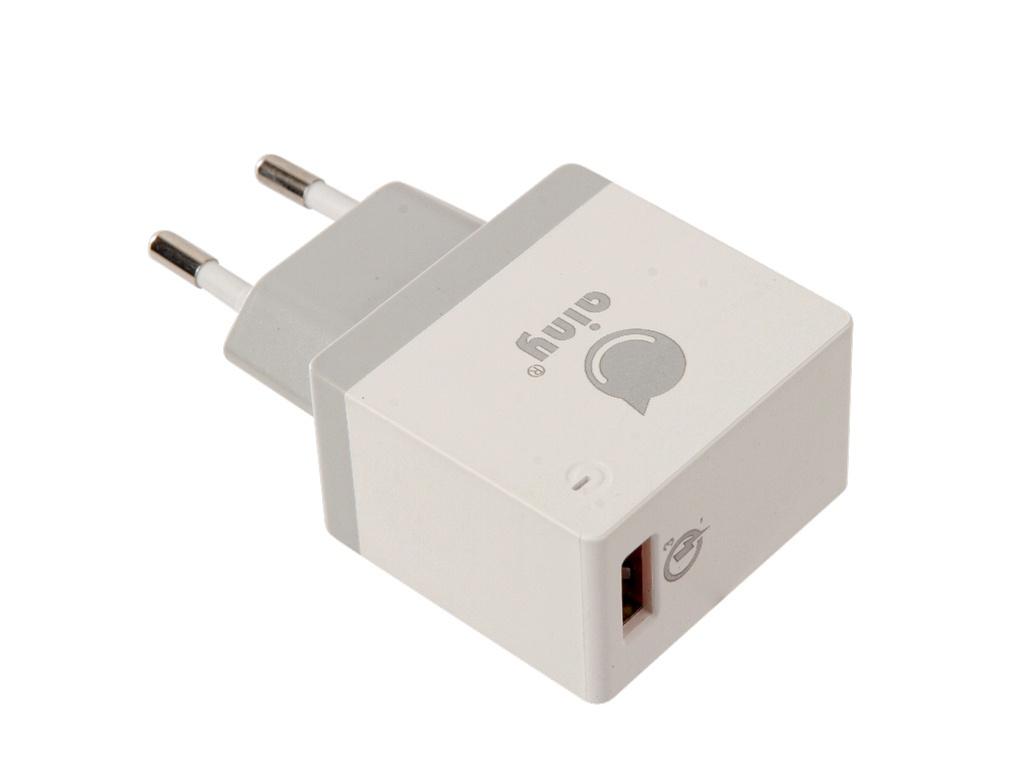 Зарядное устройство Ainy EA-038B Quick Charge 3.0A White