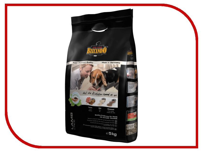 Корм BelcandO Ягненок Рис 5kg Гипоаллергенный корм для собак 553911-553915 купить корм для собак дешево воронеж