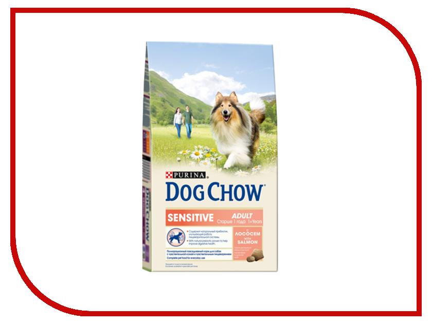 Корм Dog Chow Adult Лосось 800g для чувствительных собак 12277773 корм dog chow senior ягненок 2 5kg для собак старше 9 лет 12308782