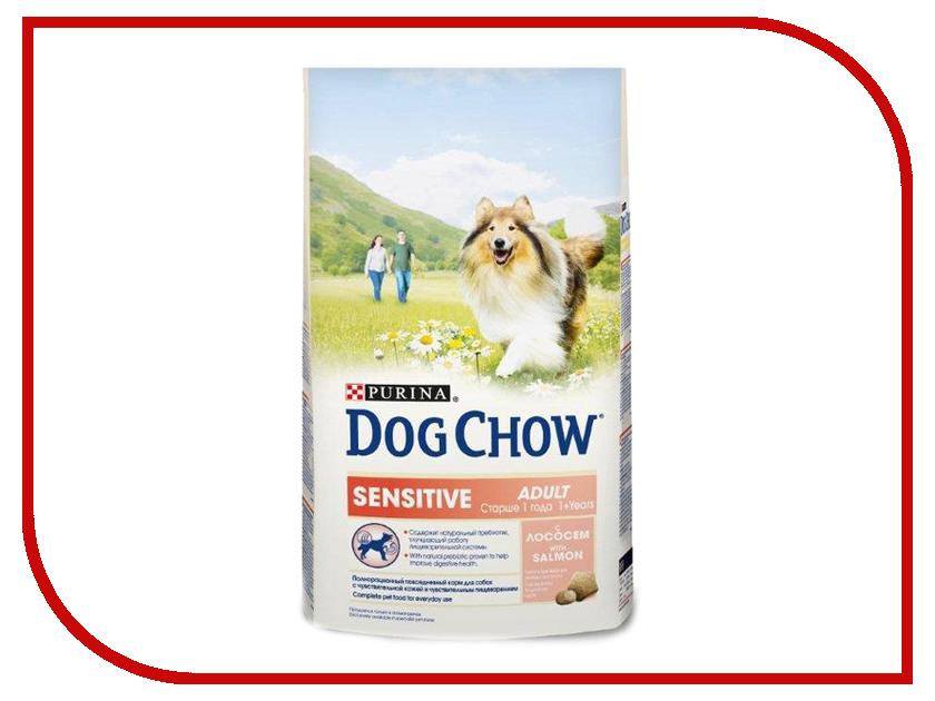 Корм Dog Chow Sensitive Лосось Рис 2.5kg для собак 12308768 корм dog chow senior ягненок 2 5kg для собак старше 9 лет 12308782
