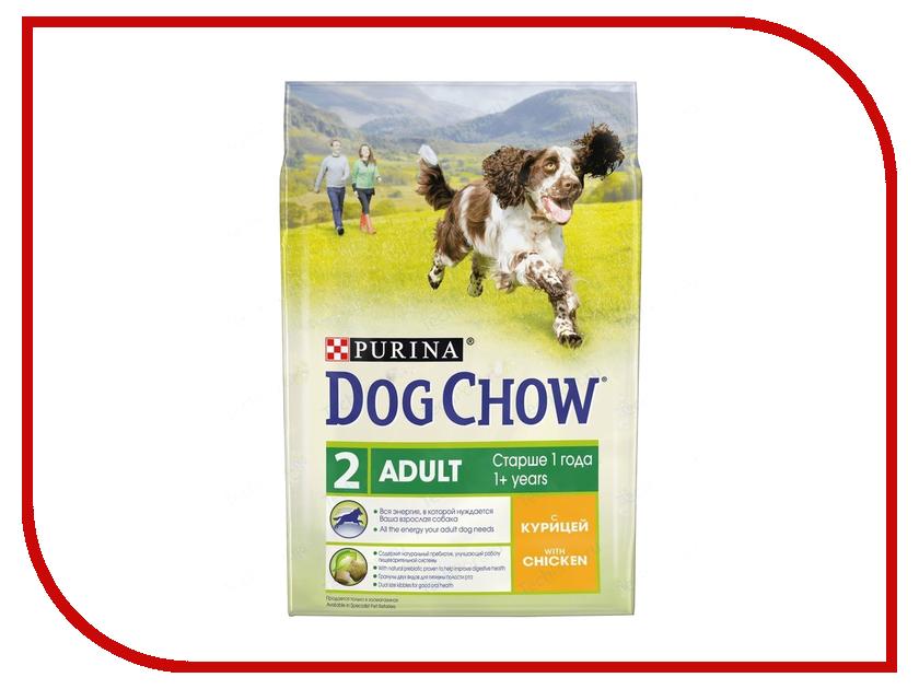 Корм Dog Chow Adult Курица 2.5kg для собак 12308786 корм dog chow senior ягненок 2 5kg для собак старше 9 лет 12308782