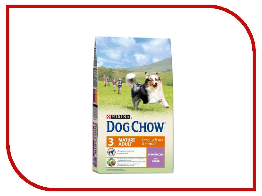 Корм Dog Chow Adult Mature Ягненок 800g для собак 12276248 корм dog chow senior ягненок 2 5kg для собак старше 9 лет 12308782