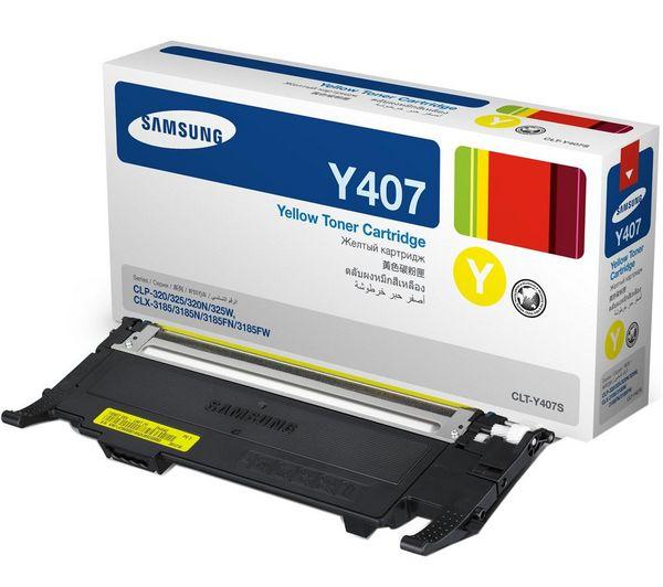 Аксессуар Samsung CLT-Y407S Yellow для LP-320/325/320N/325W/CLX-3185/N/FN/FW