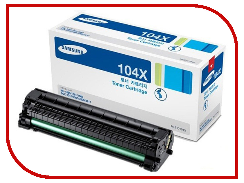 Картридж Samsung MLT-D104X Black для ML-1660/1665/SCX-3200/3205 mlt104 comaptible cartridge toner reset chip for samsung ml 1660 1661 scx 3200 3205 used in laser printer or copier 104 mlt104