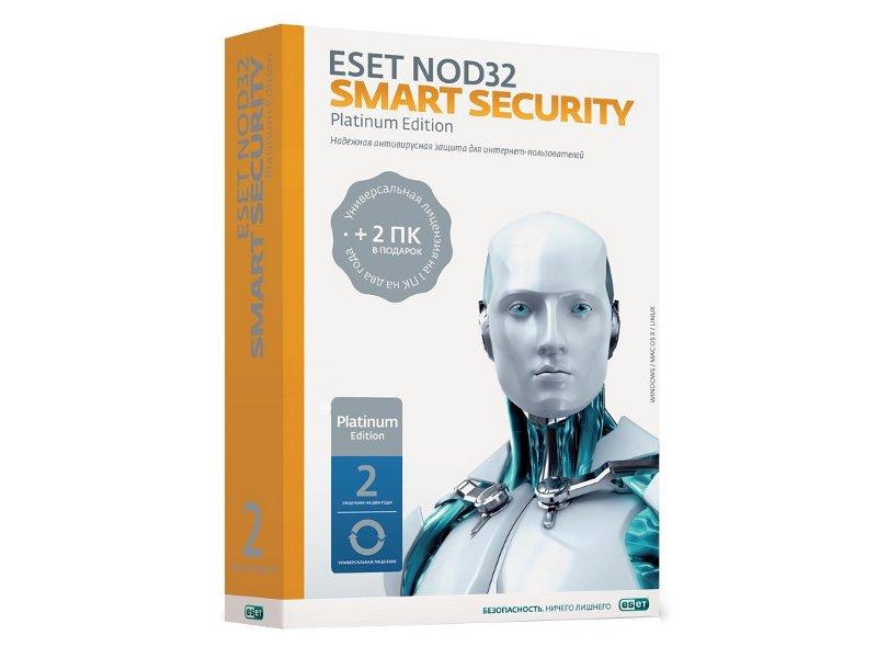 Программное обеспечение ESET NOD32 Smart Security Platinum Edition 1Dt 2year NOD32-ESS-NS-BOX-2-1<br>