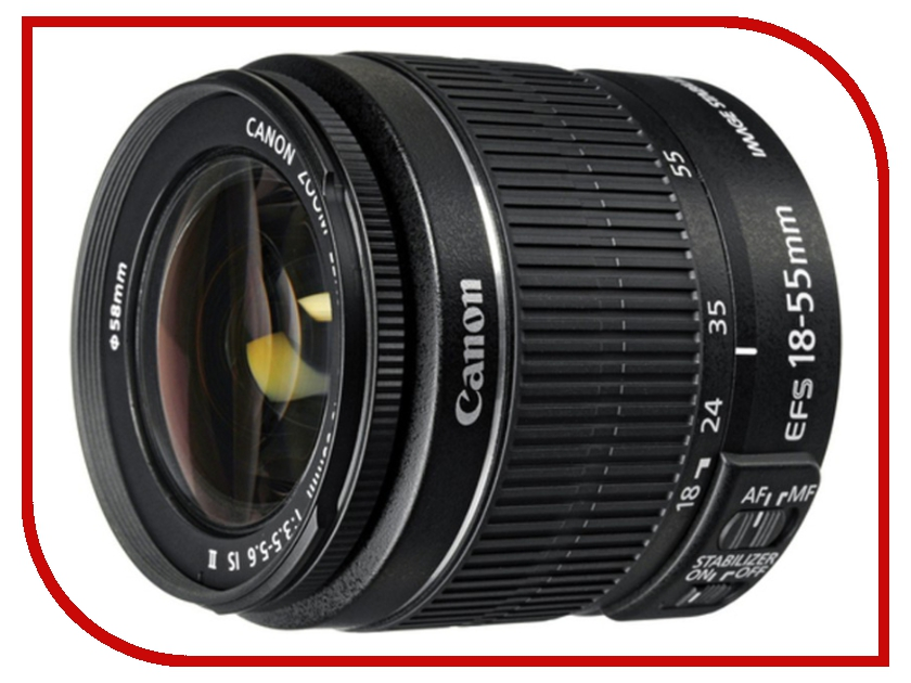 Объектив Canon EF-S 18-55mm f/3.5-5.6 IS II slr объектив 18 55mm e18 55mm