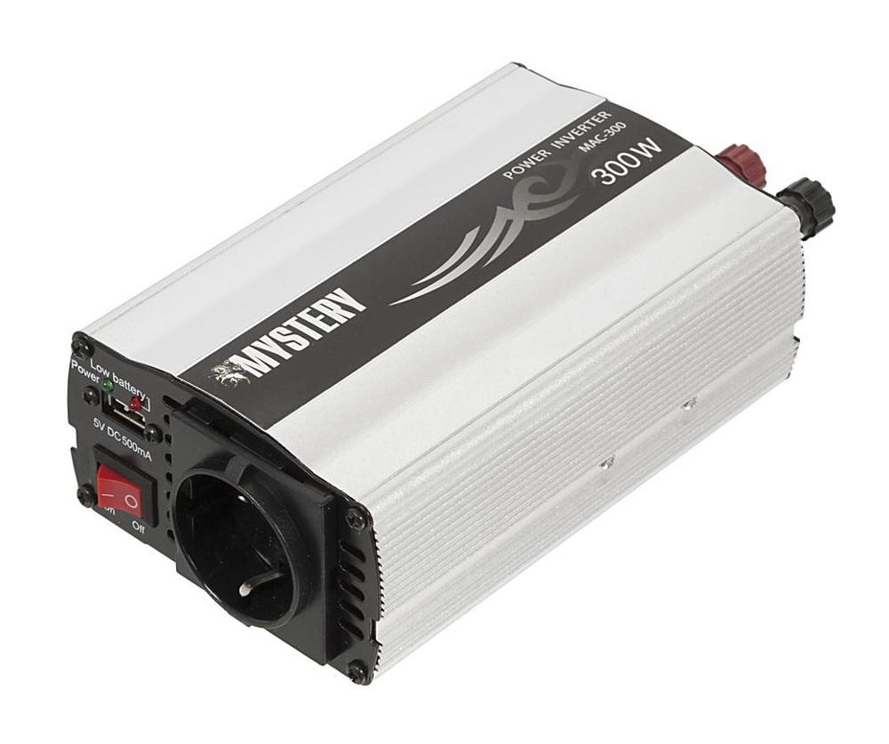 Фото - Автоинвертор Mystery MAC-300 (300Вт) с 12В на 220В c USB преобразователь напряжения acv dc 306 300вт 12в 220в usb зарядка