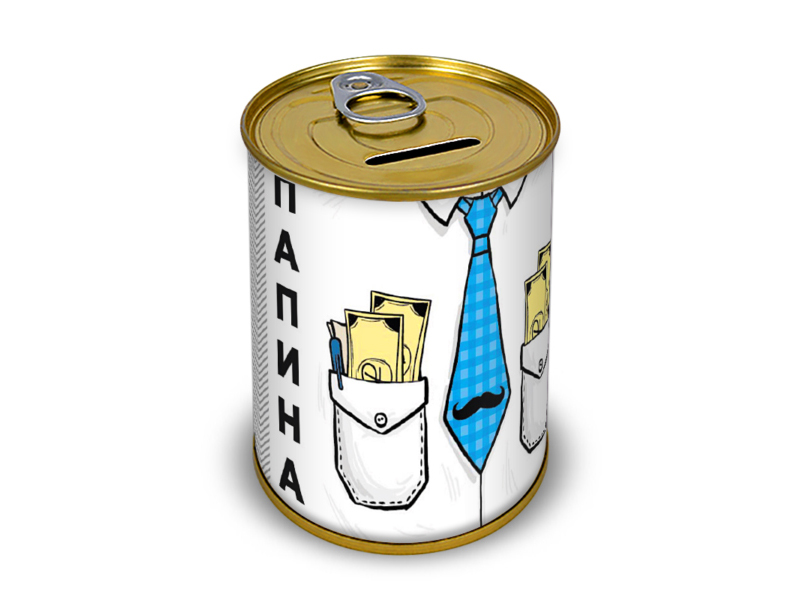 Копилка для денег Canned Money Папина заначка 415546 фото