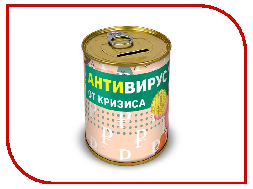 Копилка для денег Canned Money Анти-вирус от кризиса 415720 копилка для денег canned money коплю на мечту 415638