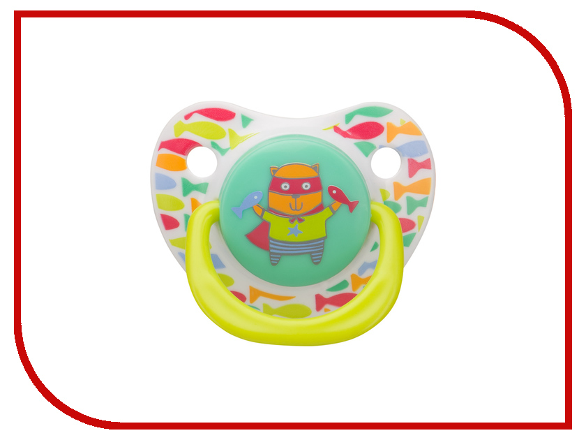 Соска пустышка Happy Baby Soother Natural Dental Cat 13008/1