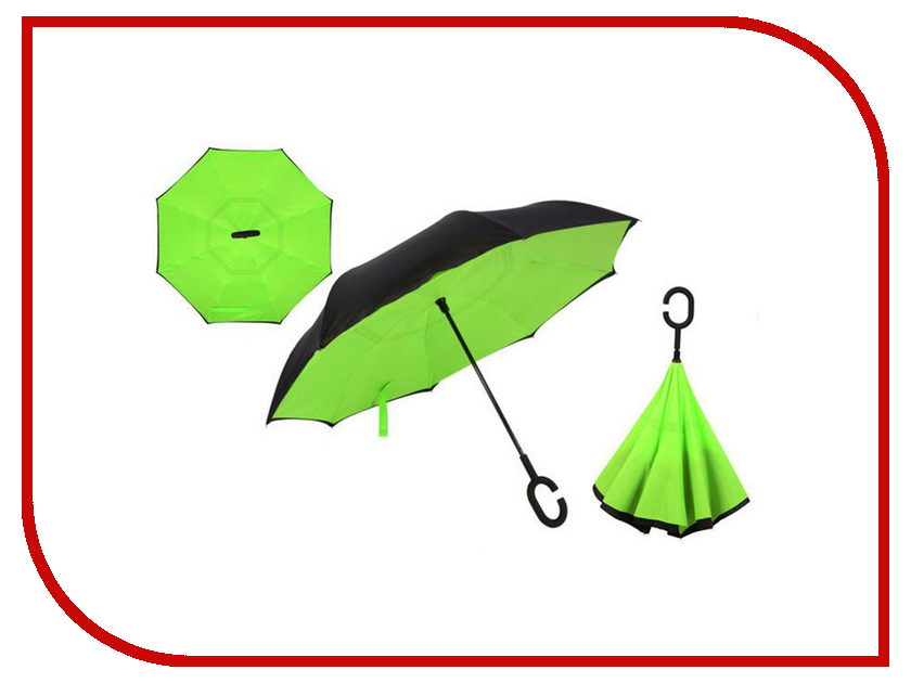 Зонт Зонт Наоборот Green зонт наоборот полуавтомат mgitik
