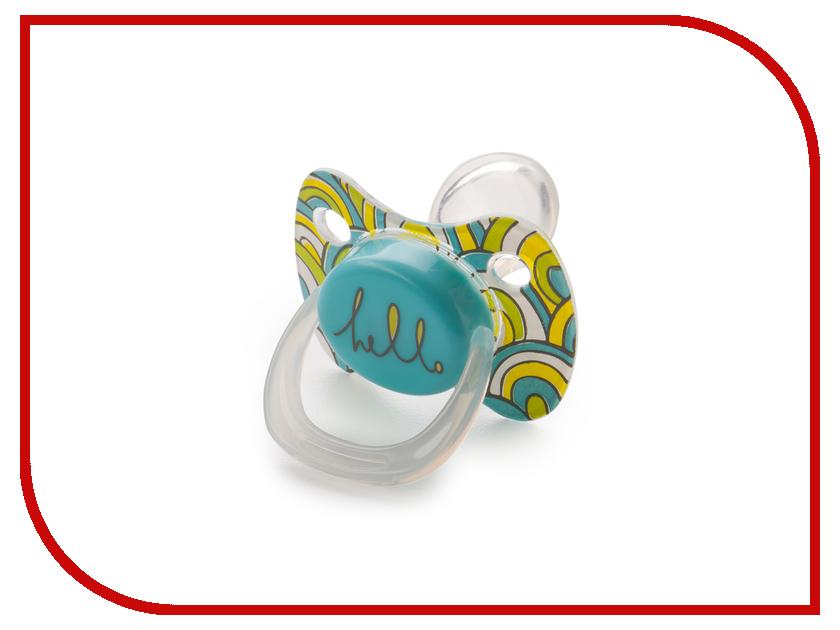 Соска пустышка с колпачком Happy Baby Pacifier Blue 13011/1