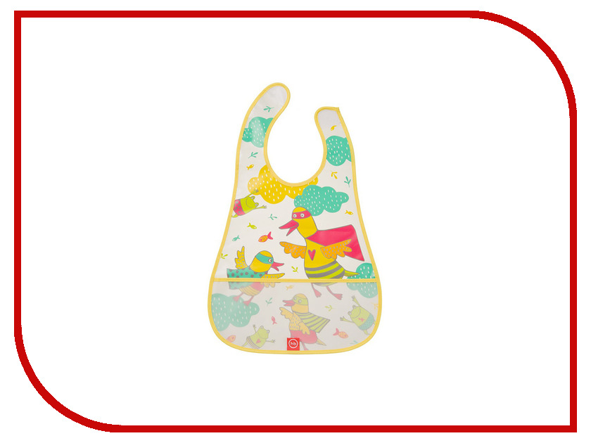 Нагрудник на липучке Waterproof Happy Baby Bib Yellow Ducks 16005