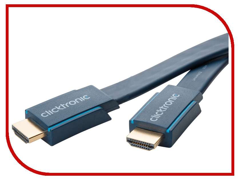 Аксессуар ClickTronic HDMI Ethernet Casual HD/4K/3D-TV 3m 70315 аксессуар clicktronic toslink toslink casual 1m 70366