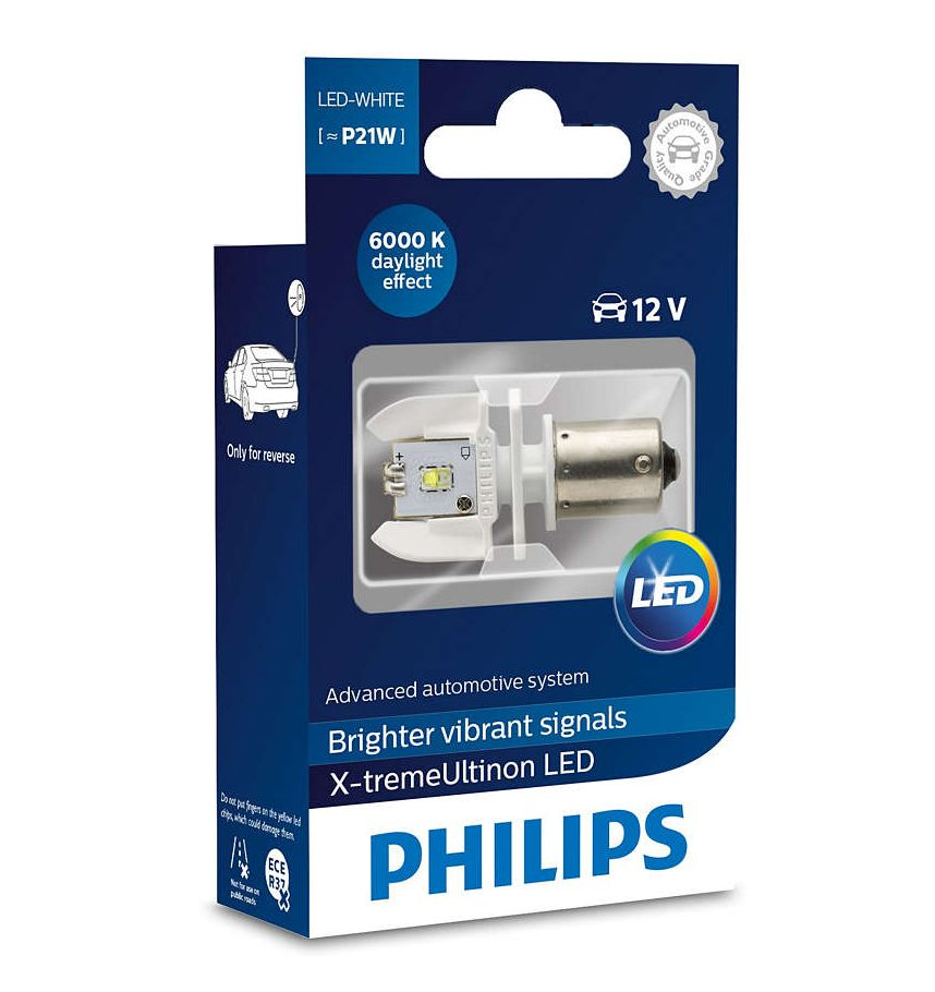 Лампа Philips P21W 12V LED White 12898X1 цена