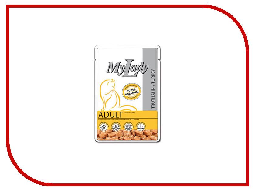 Корм Dr.Alder MyLady Super Premium Adult Индейка кусочки в соусе 85g для кошек 400776