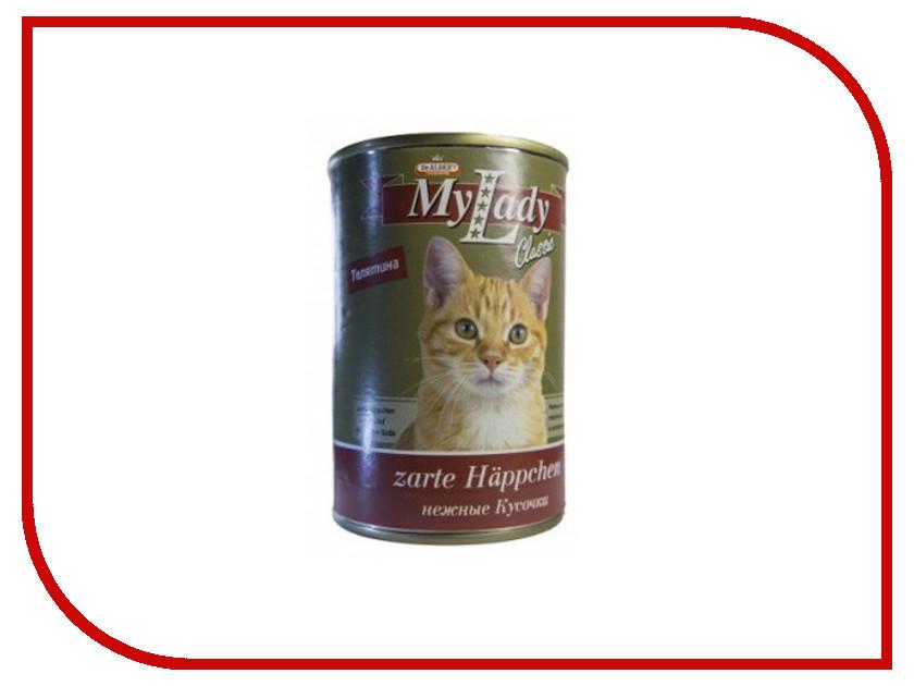 Корм Dr.Alder MyLady Телятина классические кусочки в соусе 415g для кошек 1982 корм dr alder cat garant тунец сочные кусочки в соусе 415g для кошек 1937