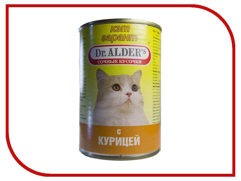 Корм Dr.Alder Cat Garant Курица сочные кусочки в соусе 415g для кошек 1906