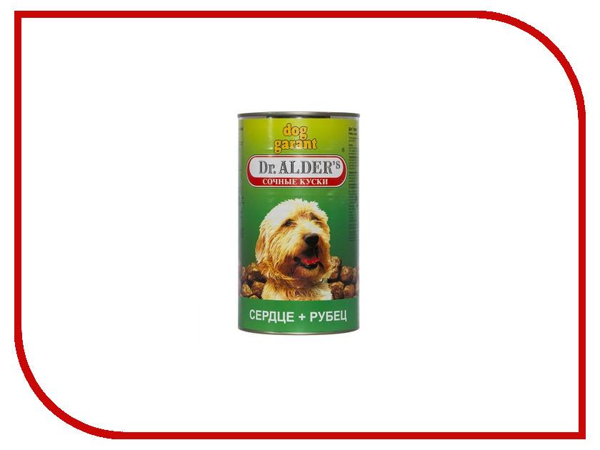 Корм Dr.Alder Dog Garant Рубец, Сердце кусочки в желе 1230g для собак 1814