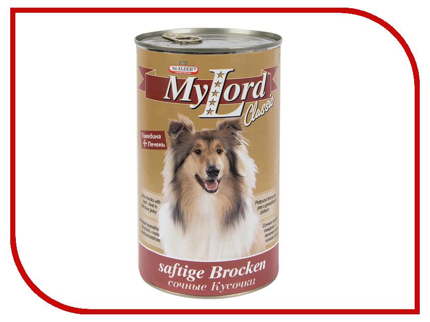 Корм Dr.Alder My Lord Classic Говядина, Печень 1230g для собак 1821 для собак my