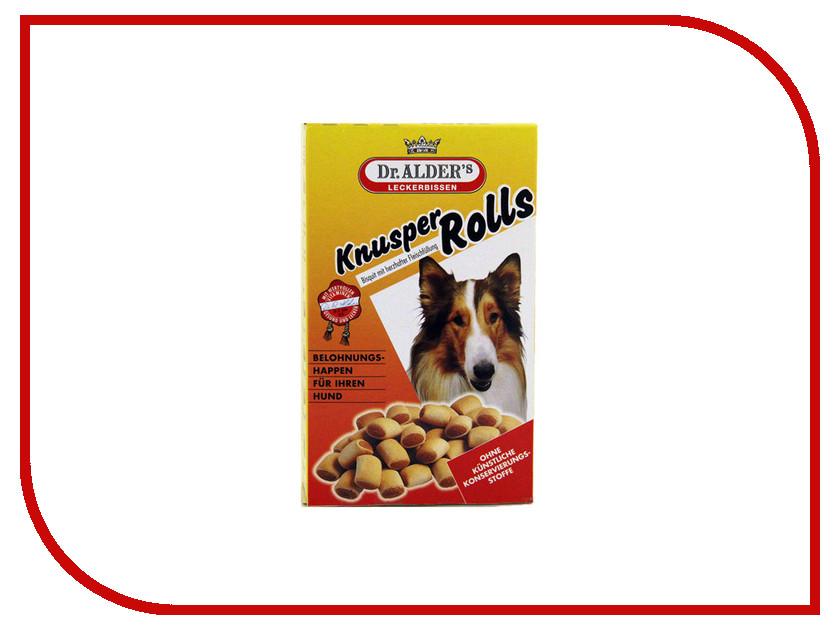 Лакомство Dr.Alder Knusper Rolls 500g бисквиты с мясной начинкой для собак 1960-1961-1962