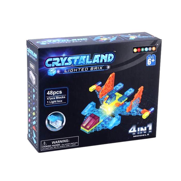 Конструктор Crystaland SHG001 Самолет 4 в 1 48 дет конструктор ksz уксар тотемное животное джунглей 89 дет 609 1