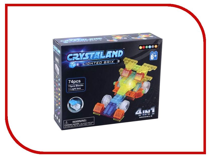Конструктор Crystaland SHG002 Гоночный автомобиль 4 в 1 74 дет конструктор crystaland shg006 истребитель 4 в 1 67 дет