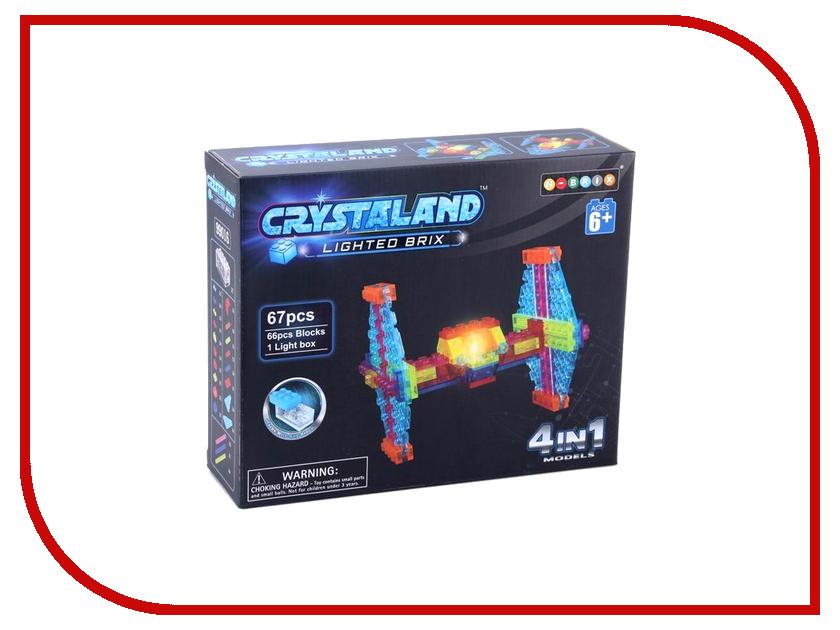 Конструктор Crystaland SHG006 Истребитель 4 в 1 67 дет конструктор crystaland shg006 истребитель 4 в 1 67 дет