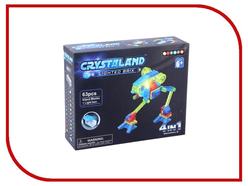 Конструктор Crystaland SHG007 Луноход 4 в 1 63 дет конструктор crystaland shg006 истребитель 4 в 1 67 дет