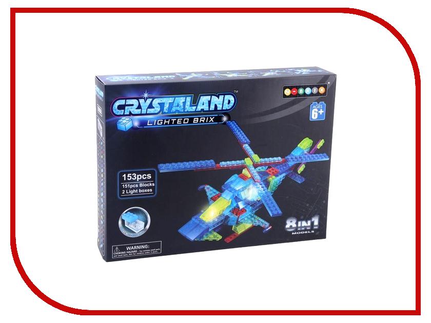 Конструктор Crystaland SHG012 Воздушная техника 8 в 1 153 дет конструктор crystaland shg006 истребитель 4 в 1 67 дет