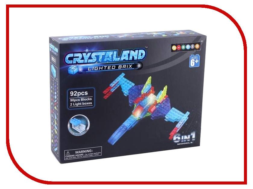 Конструктор Crystaland SHG015 Военный самолет 6 в 1 92 дет