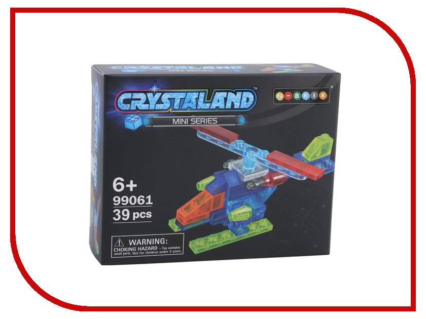 Конструктор Crystaland SHGS002 Мини Самолет 39 дет конструктор crystaland shg006 истребитель 4 в 1 67 дет